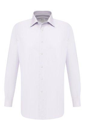 Мужская хлопковая рубашка BRIONI сиреневого цвета, арт. RCLU16/P807Q | Фото 1