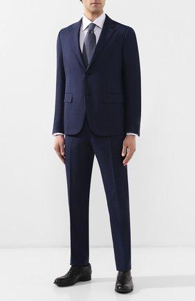 Мужская хлопковая рубашка BRIONI сиреневого цвета, арт. RCLU16/P807Q | Фото 2
