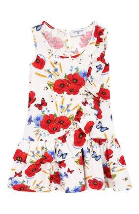 Женский хлопковое платье MONNALISA разноцветного цвета, арт. 313920 | Фото 1