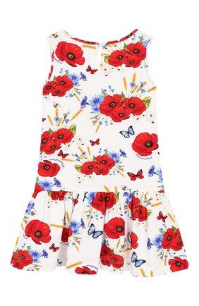 Женский хлопковое платье MONNALISA разноцветного цвета, арт. 313920 | Фото 2