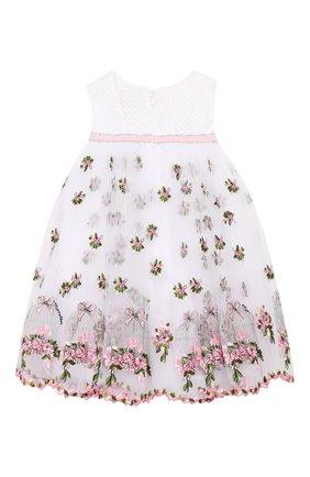 Женский хлопковое платье MONNALISA разноцветного цвета, арт. 313934 | Фото 2
