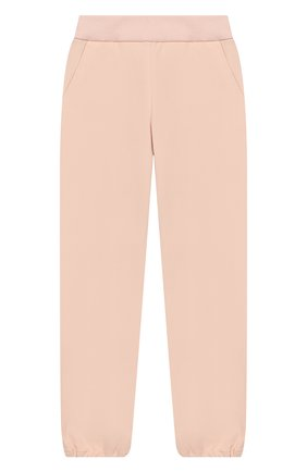 Детского хлопковые брюки LORO PIANA светло-розового цвета, арт. FAI1205   Фото 1