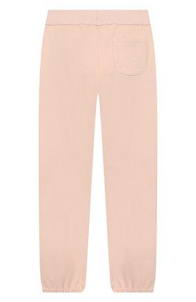 Детского хлопковые брюки LORO PIANA светло-розового цвета, арт. FAI1205   Фото 2
