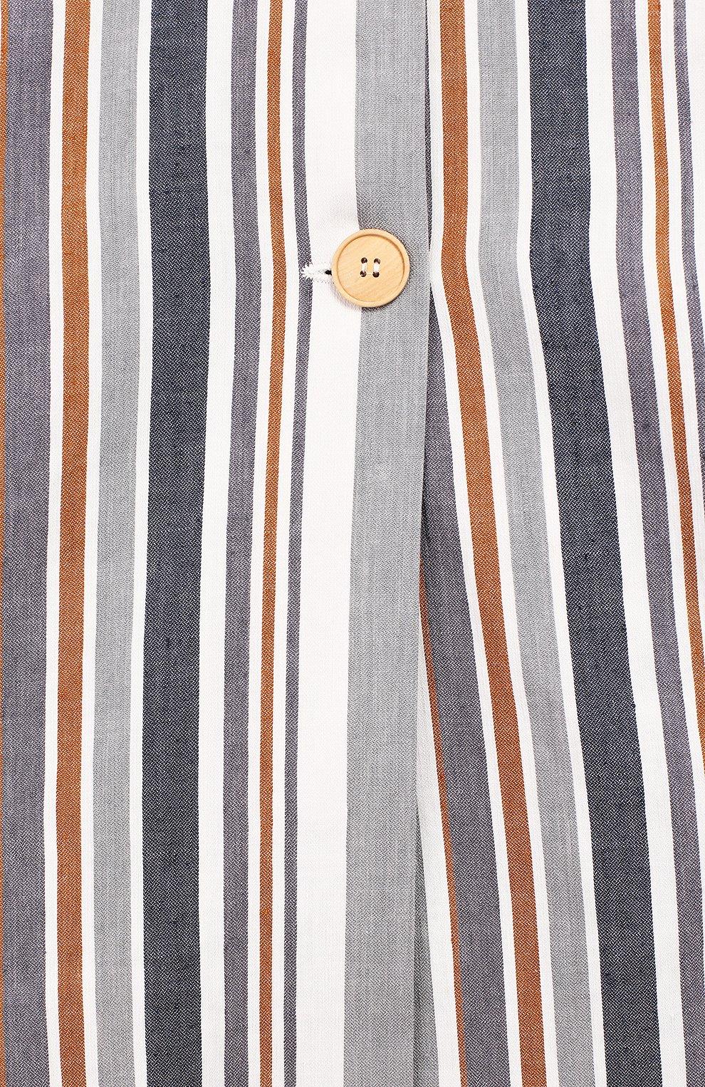 Детский жакет из льна и хлопка IL GUFO серого цвета, арт. P19GE030L1009/5A-8A | Фото 3