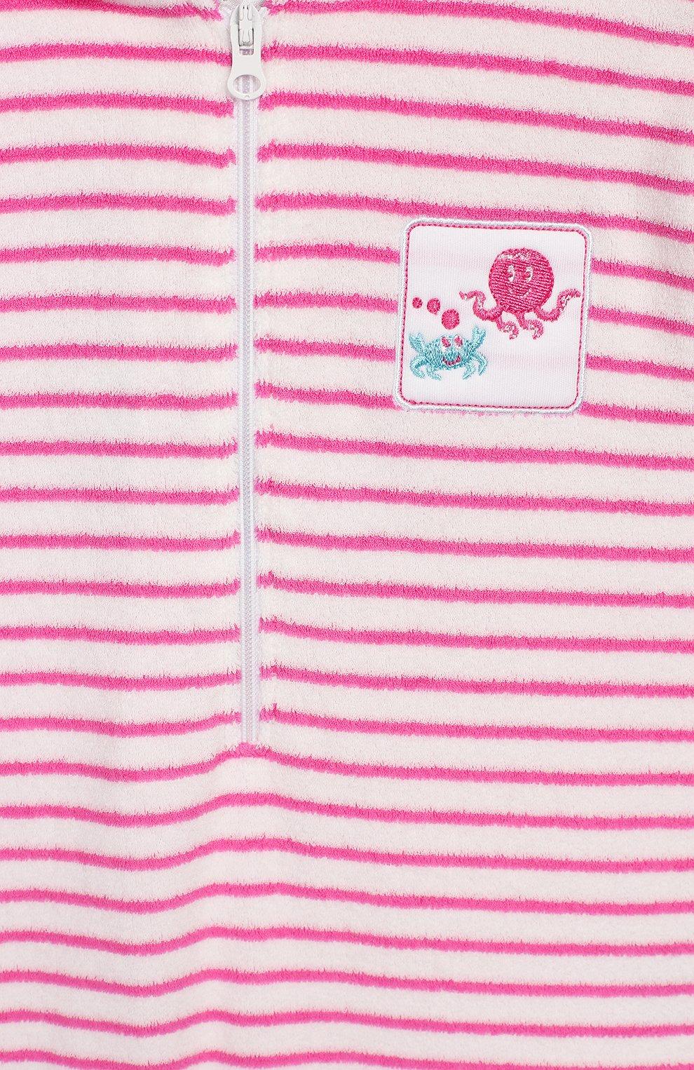 Детское хлопковый песочник с капюшоном KISSY KISSY розового цвета, арт. KGR01796I | Фото 3