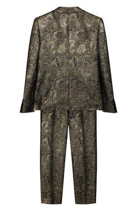 Детский костюм из пиджака и брюк DOLCE & GABBANA золотого цвета, арт. L41U57/HJMA4/2-6 | Фото 2