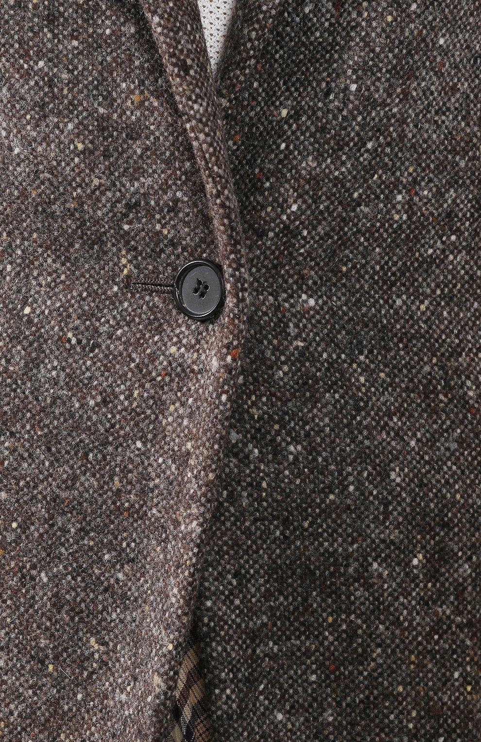 Шерстяной жакет CALVIN KLEIN 205W39NYC серый | Фото №5