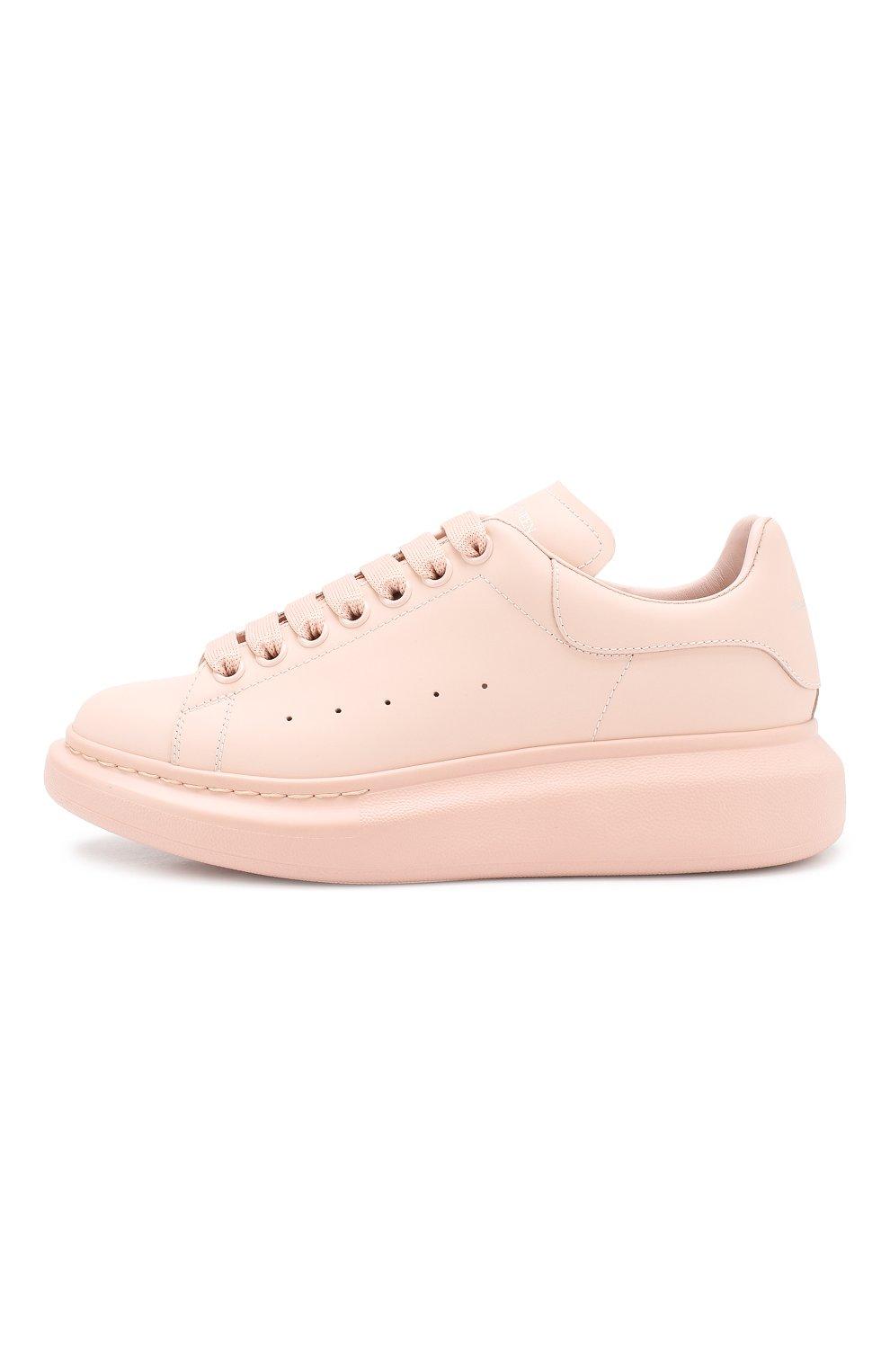 Кожаные кеды Alexander McQueen розовые   Фото №3