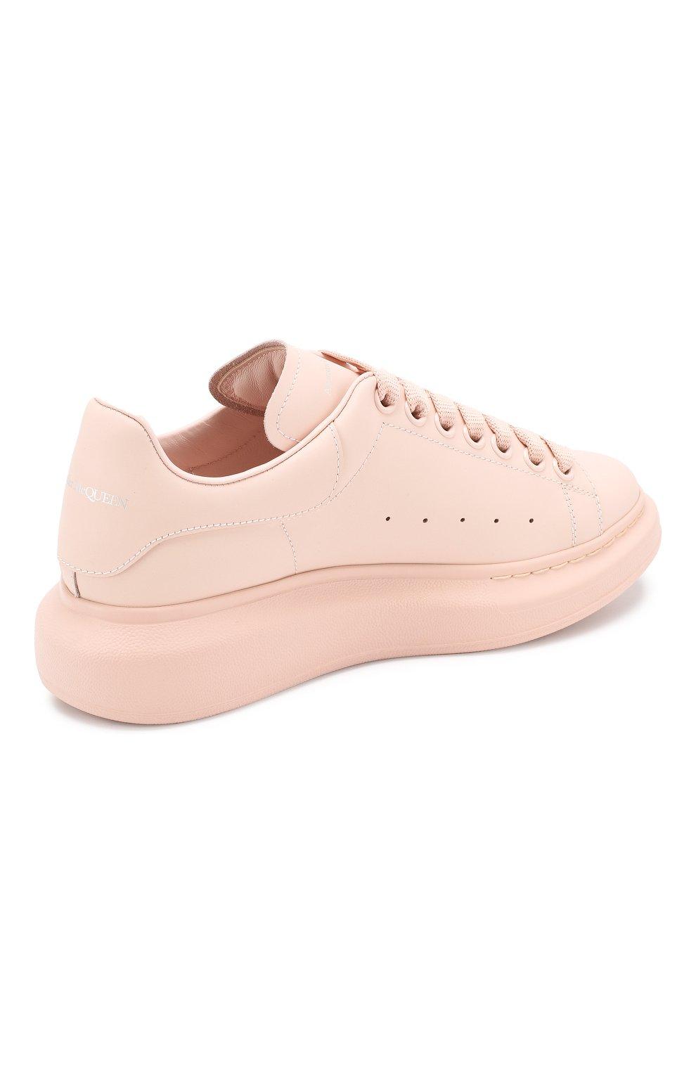 Кожаные кеды Alexander McQueen розовые   Фото №4