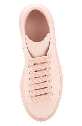 Кожаные кеды Alexander McQueen розовые   Фото №5