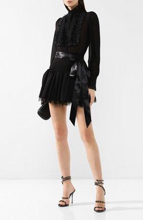 Кожаные босоножки Cleo Rene Caovilla черные | Фото №2