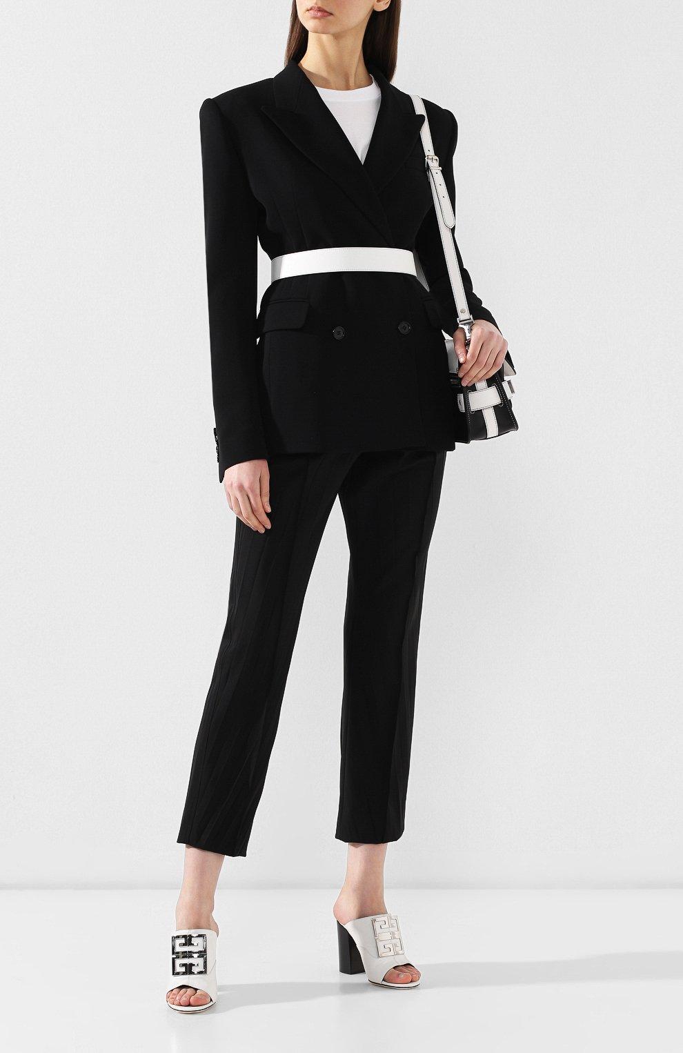 Кожаные мюли 4G Givenchy белые | Фото №2