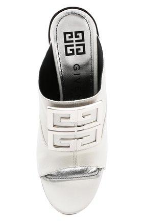 Кожаные мюли 4G Givenchy белые | Фото №5