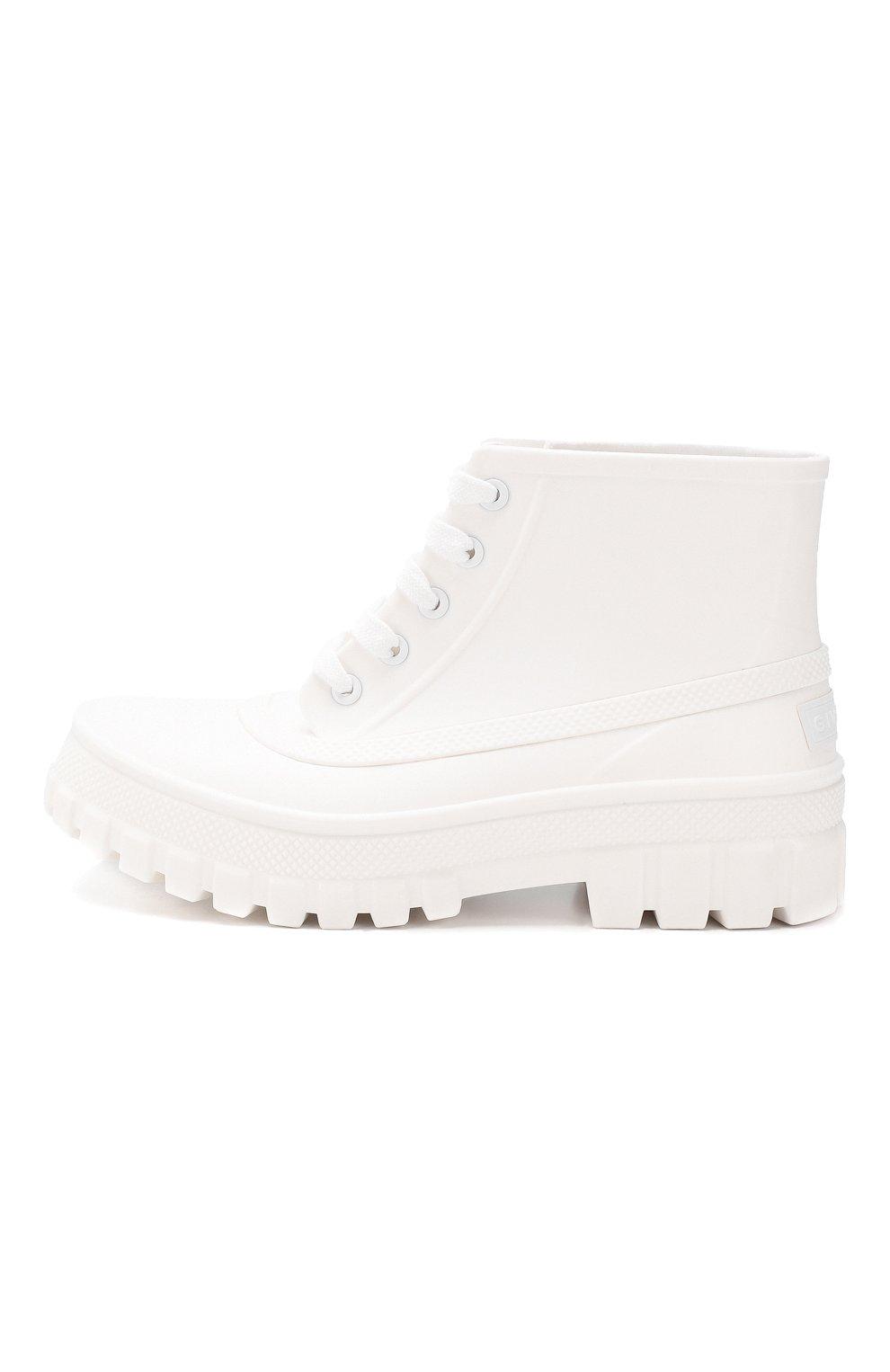 Резиновые ботинки Glaston Givenchy белые | Фото №3