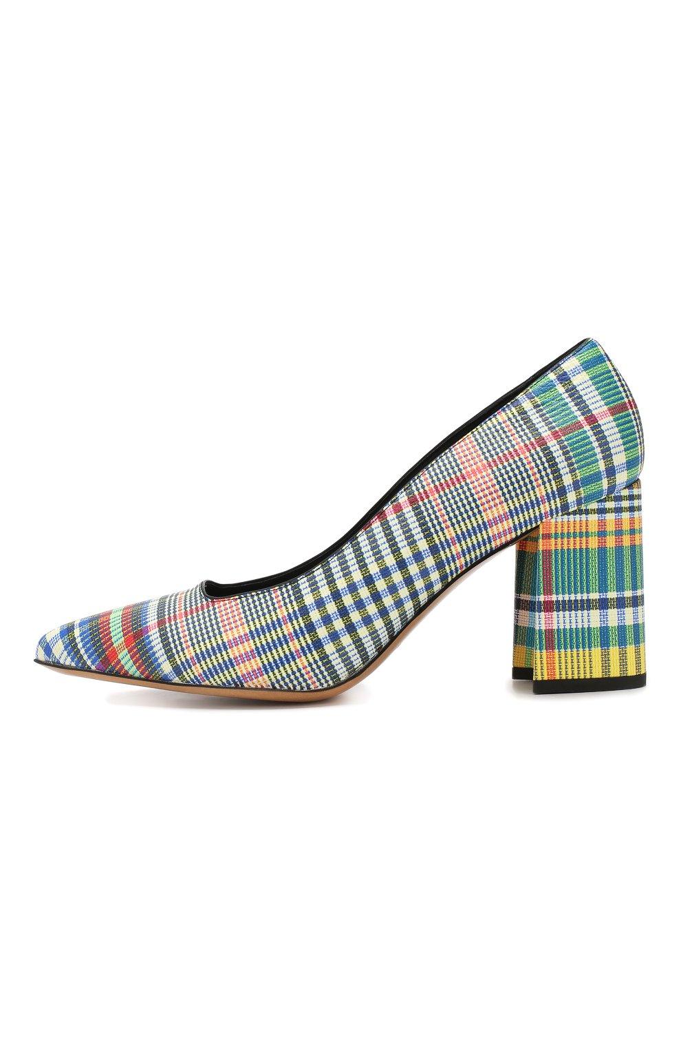 Кожаные туфли Dries Van Noten разноцветные | Фото №3