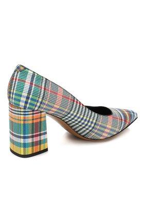 Кожаные туфли Dries Van Noten разноцветные | Фото №4
