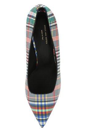 Кожаные туфли Dries Van Noten разноцветные | Фото №5