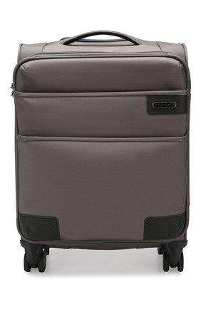 Женский дорожный чемодан uno soft deluxe small RONCATO серого цвета, арт. 404673 | Фото 1