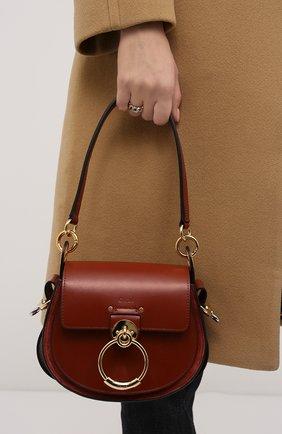 Женская сумка tess small CHLOÉ коричневого цвета, арт. CHC18WS153A37   Фото 2