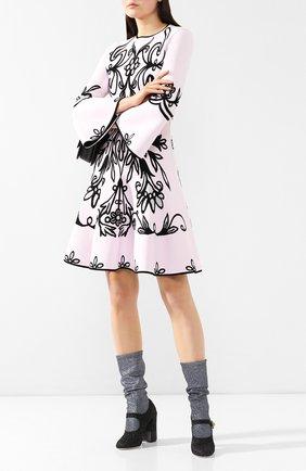 Текстильные ботильоны Vally Dolce & Gabbana черные | Фото №2