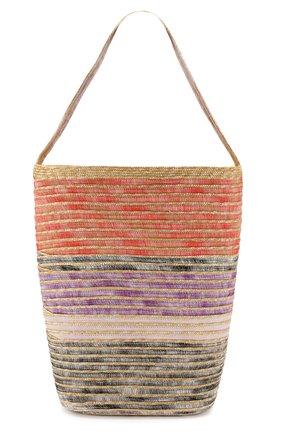 Соломенная сумка Missoni разноцветного цвета | Фото №1