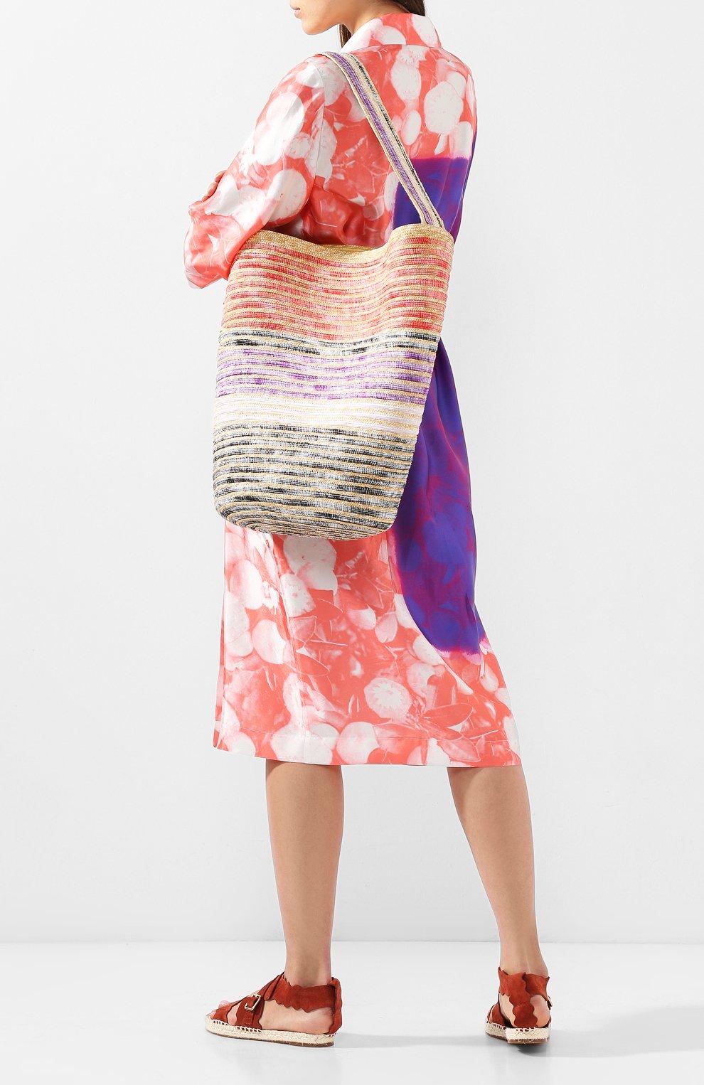 Соломенная сумка Missoni разноцветного цвета | Фото №2