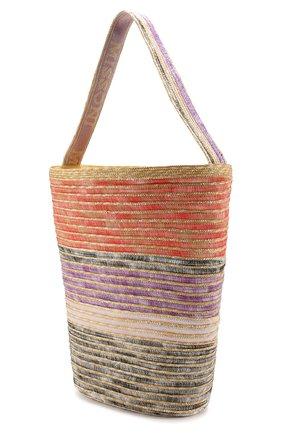 Соломенная сумка Missoni разноцветного цвета | Фото №3
