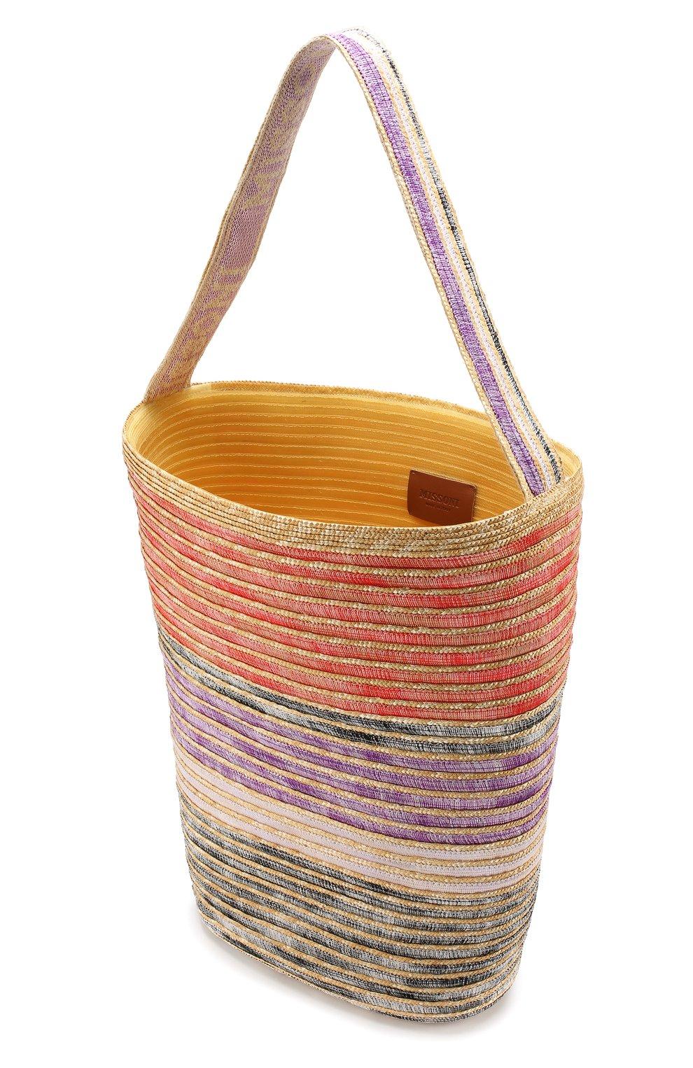 Соломенная сумка Missoni разноцветного цвета | Фото №4