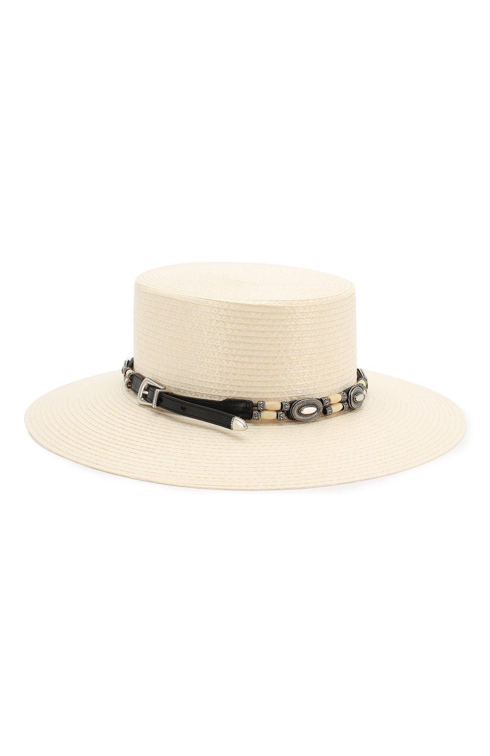 Шляпа Saint Laurent белого цвета | Фото №2