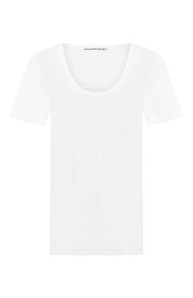 Женская футболка из вискозы ALEXANDERWANG.T белого цвета, арт. 4C991004A0 | Фото 1