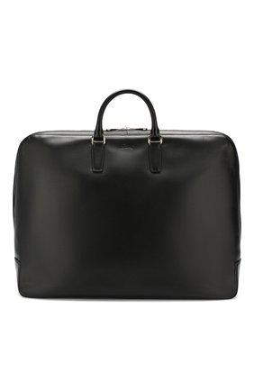 Кожаная сумка в комплекте с кофром и вешалкой | Фото №1