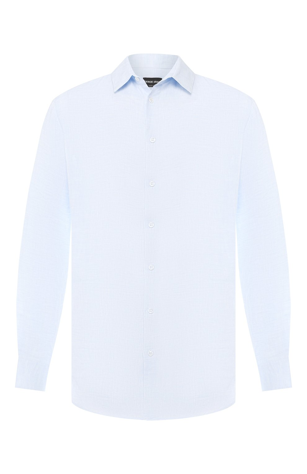 Мужская льняная рубашка GIORGIO ARMANI голубого цвета, арт. 8WGCCZ97/TZ243 | Фото 1