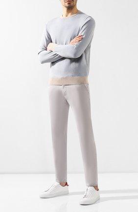 Мужской хлопковые брюки BALDESSARINI светло-серого цвета, арт. 16838-2207-910 | Фото 2