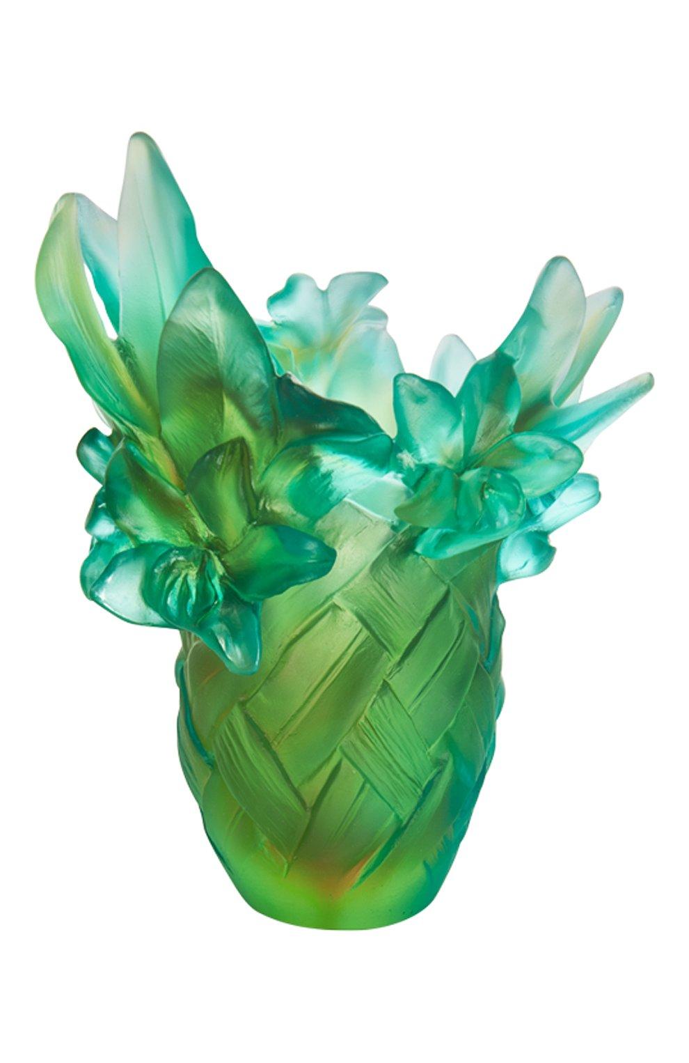 Мужского ваза tressage small DAUM зеленого цвета, арт. 05627 | Фото 1