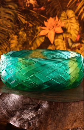 Мужского блюдо для фруктов tressage DAUM зеленого цвета, арт. 05638 | Фото 2