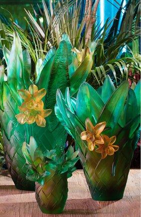 Ваза tressage medium DAUM зеленого цвета, арт. 05637 | Фото 2