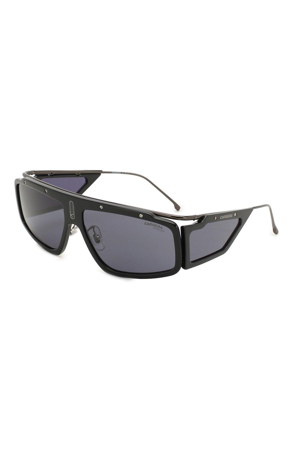 Мужские солнцезащитные очки CARRERA черного цвета, арт. CARRERA FACER 807 | Фото 1 (Тип очков: С/з; Статус проверки: Проверена категория; Оптика Гендер: оптика-унисекс; Очки форма: Прямоугольные, D-форма)