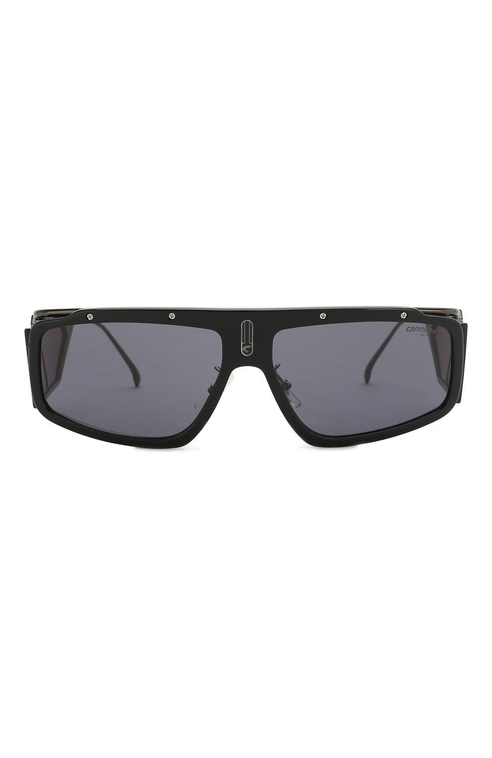 Мужские солнцезащитные очки CARRERA черного цвета, арт. CARRERA FACER 807 | Фото 2 (Тип очков: С/з; Статус проверки: Проверена категория; Оптика Гендер: оптика-унисекс; Очки форма: Прямоугольные, D-форма)