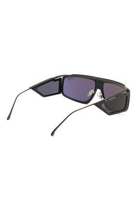 Мужские солнцезащитные очки CARRERA черного цвета, арт. CARRERA FACER 807 | Фото 3 (Тип очков: С/з; Статус проверки: Проверена категория; Оптика Гендер: оптика-унисекс; Очки форма: Прямоугольные, D-форма)