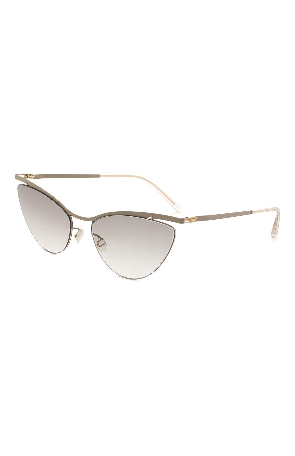 Женские солнцезащитные очки MYKITA серого цвета, арт. MIZUH0/CHAMPAGNEG0LD/TAUPEGREY/0RIGINAL GREY | Фото 1
