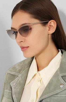 Женские солнцезащитные очки MYKITA серого цвета, арт. MIZUH0/CHAMPAGNEG0LD/TAUPEGREY/0RIGINAL GREY | Фото 2