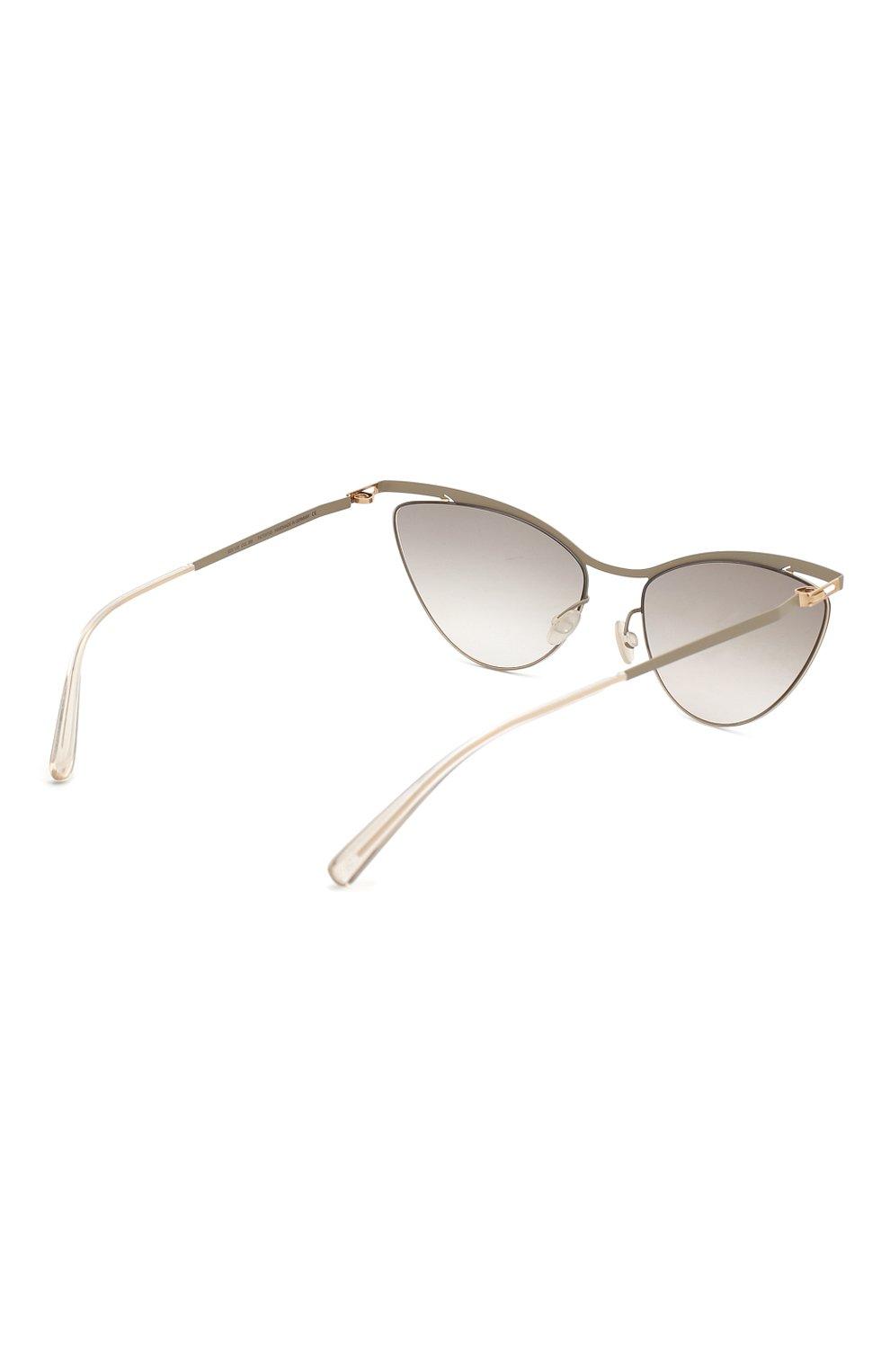 Женские солнцезащитные очки MYKITA серого цвета, арт. MIZUH0/CHAMPAGNEG0LD/TAUPEGREY/0RIGINAL GREY | Фото 4
