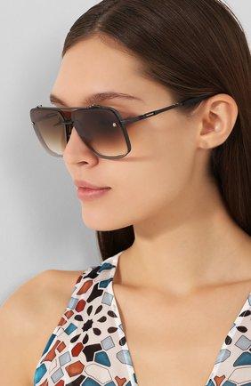 Мужские солнцезащитные очки DITA коричневого цвета, арт. MACH-SIX/03 | Фото 2