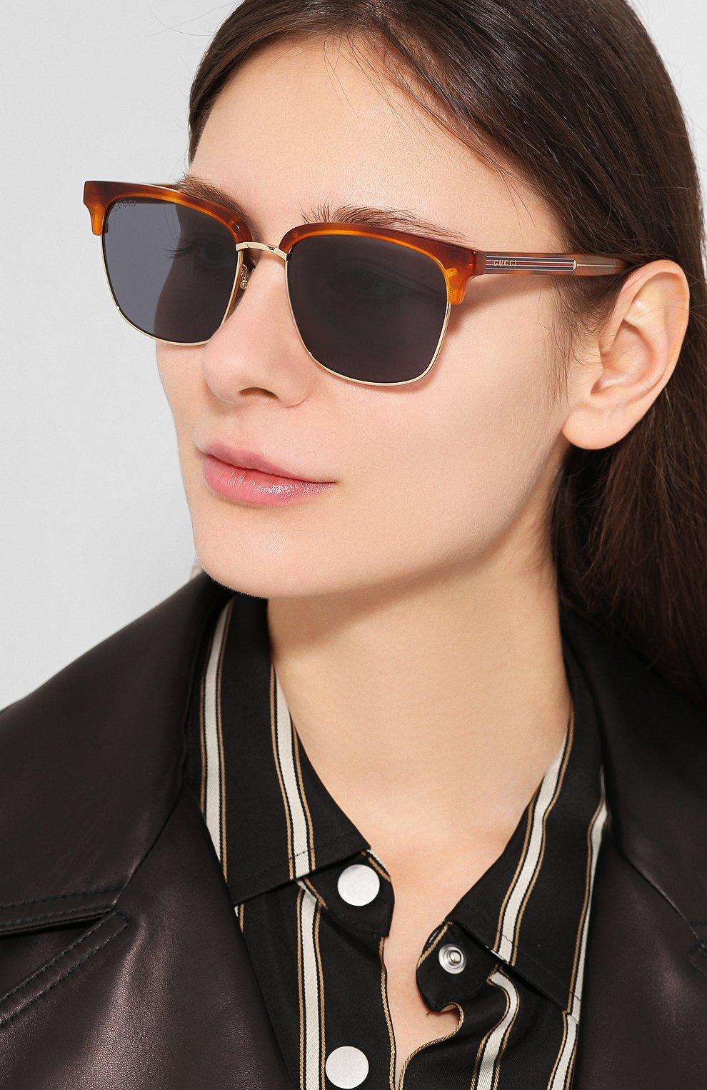 Солнцезащитные очки Gucci синие   Фото №2