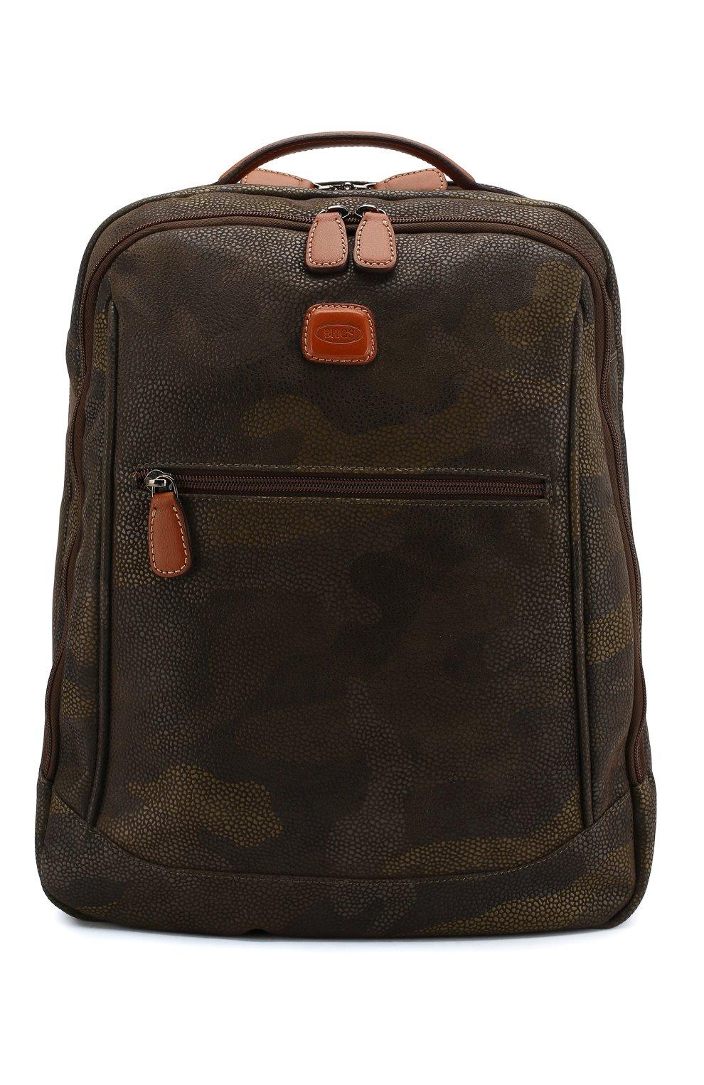 Женский дорожный рюкзак life BRIC`S оливкового цвета, арт. BL8 04658 | Фото 1