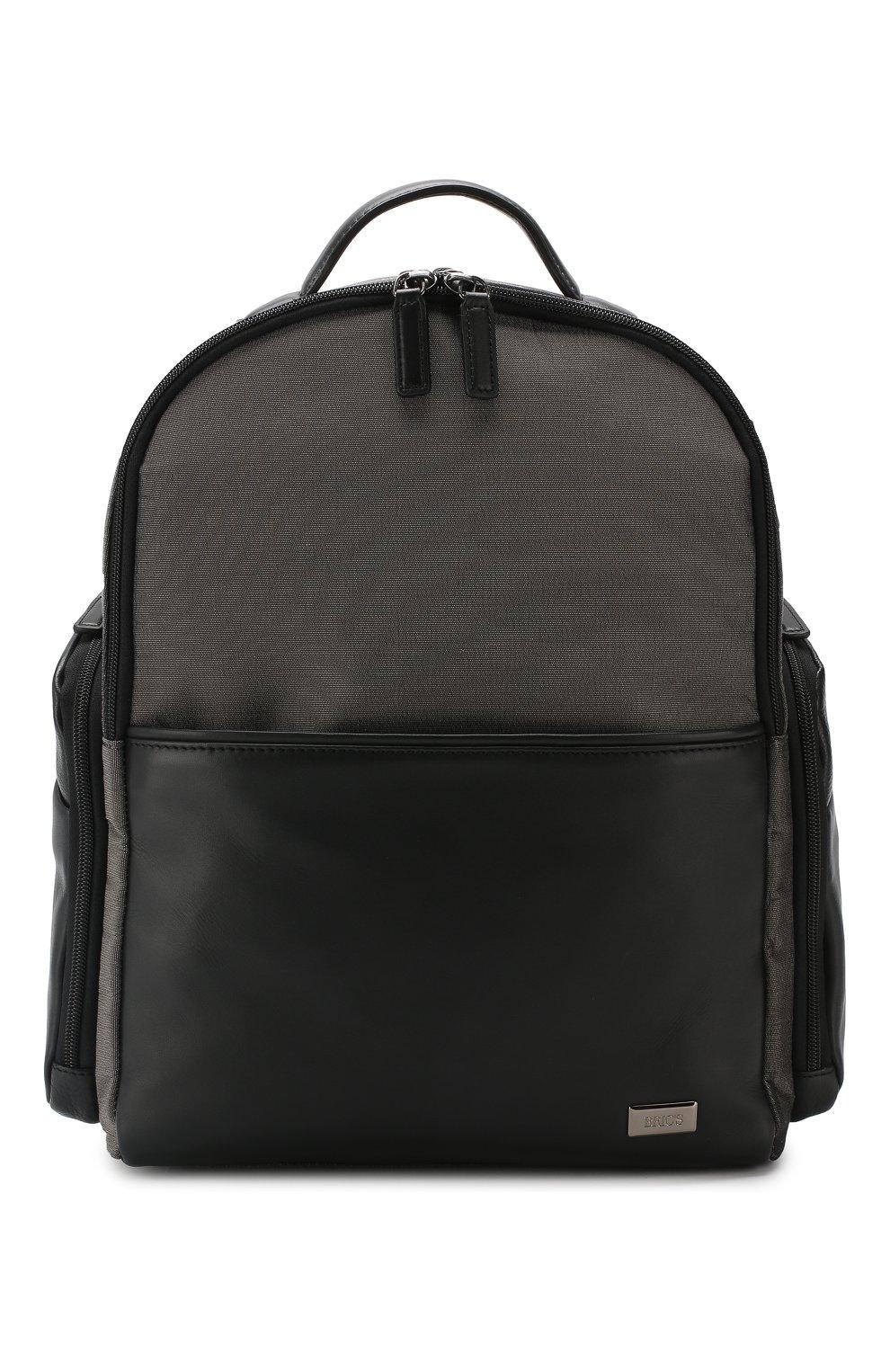 Мужской дорожный рюкзак monza medium BRIC`S серого цвета, арт. BR207702   Фото 1