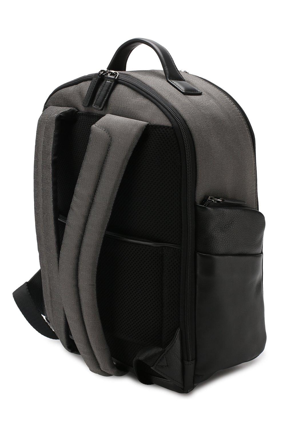 Мужской дорожный рюкзак monza medium BRIC`S серого цвета, арт. BR207702   Фото 2