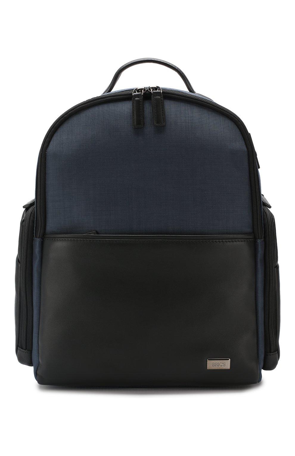Мужской дорожный рюкзак monza medium BRIC`S синего цвета, арт. BR207702 | Фото 1