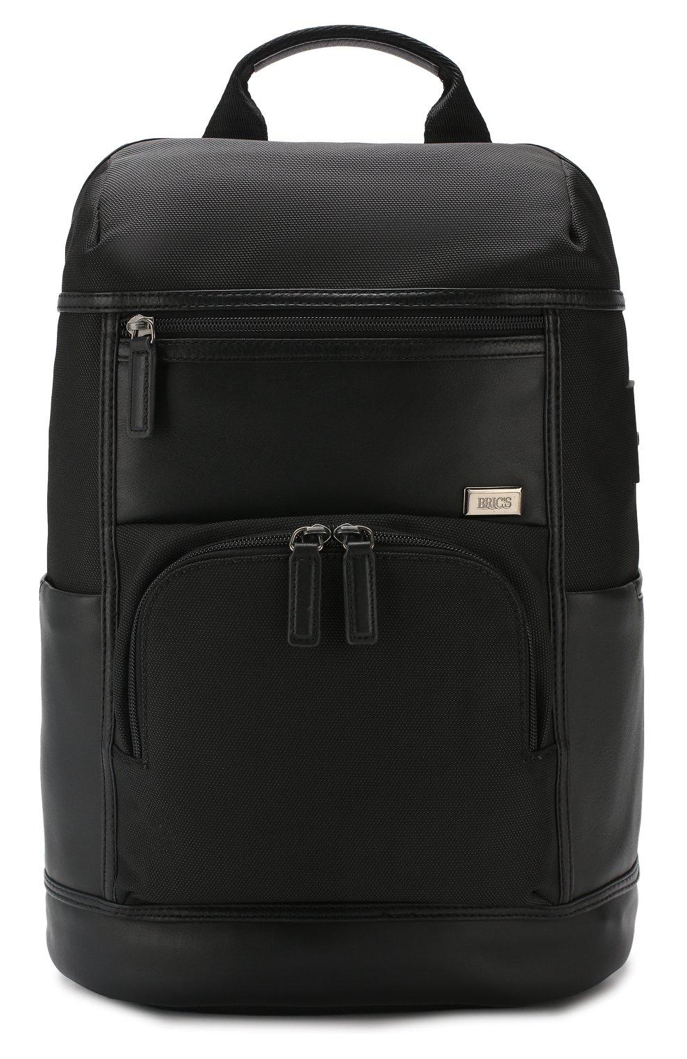 Мужской дорожный рюкзак monza BRIC`S черного цвета, арт. BR207703   Фото 1