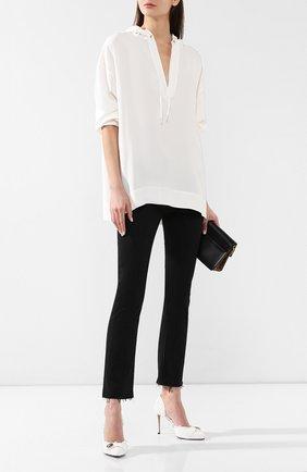 Текстильные туфли Julie  Balmain белые | Фото №2